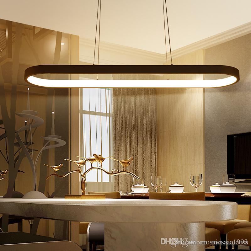 Compre Nuevo Creative Moderno Led Colgante Luces Cocina Acrílico + ...