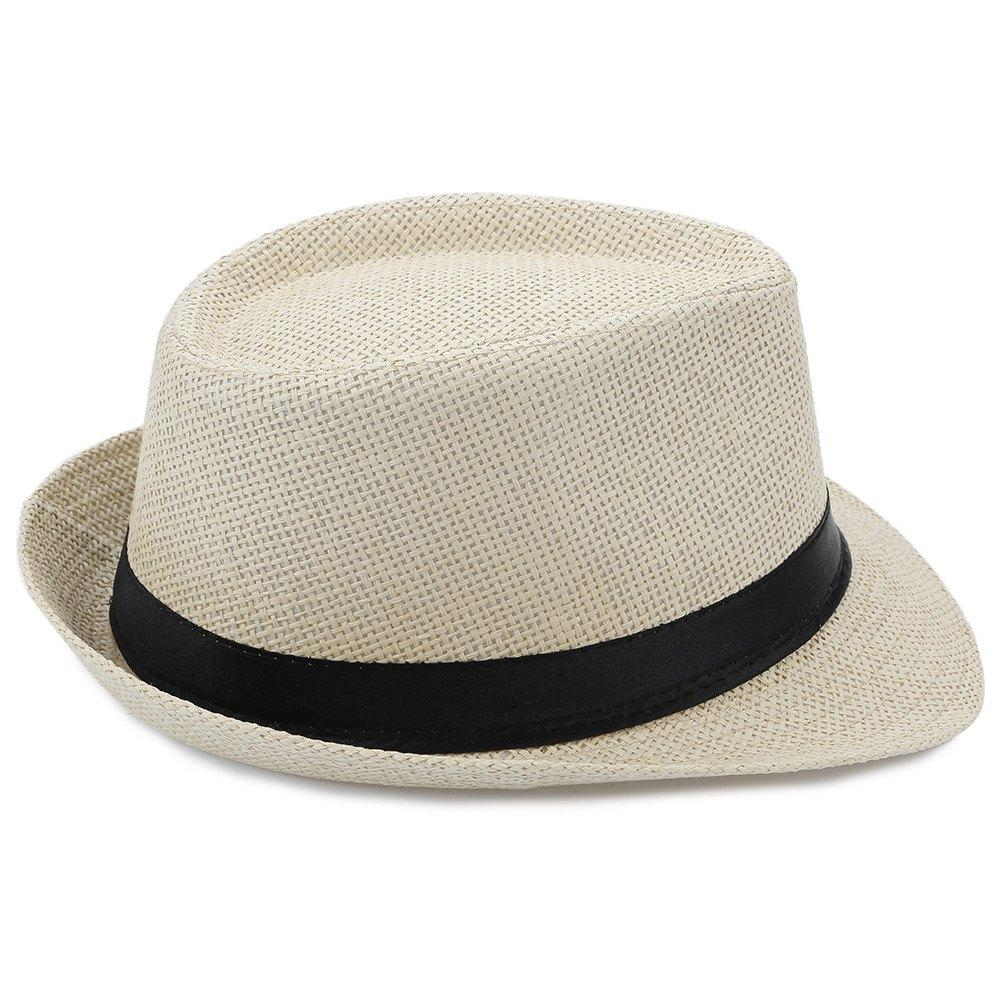 Summer Solid Color Unisex Fedora Hat Beach Sunhat For Women Men Fedora Hat  Summer Beach Sunhat Cap Straw Fascinator Hats Tilley Hat From Nicolan 9f9d4e6709f