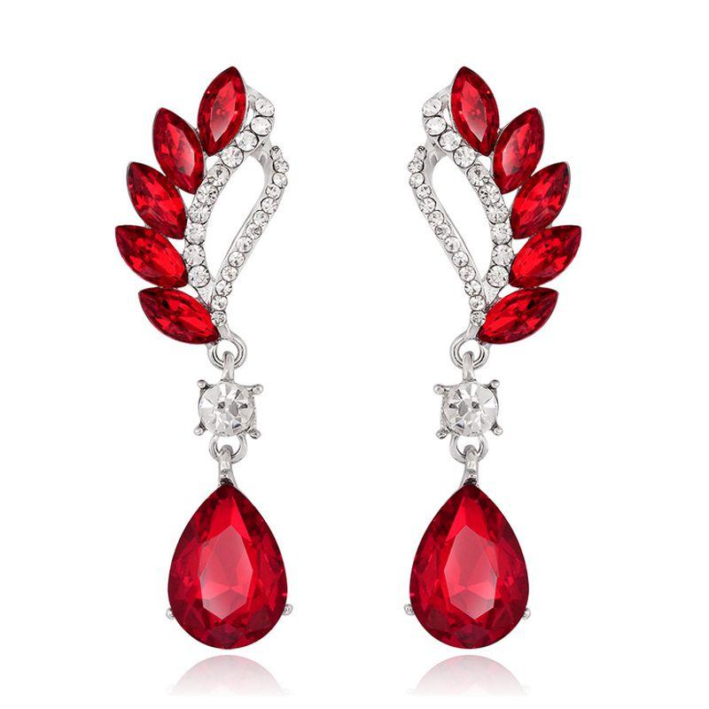 New Fashion Teardrop Crystal Drop ciondola gli orecchini con zaffiro ametista pietra preziosa orecchini di cristallo le donne regali gioielli festa di nozze