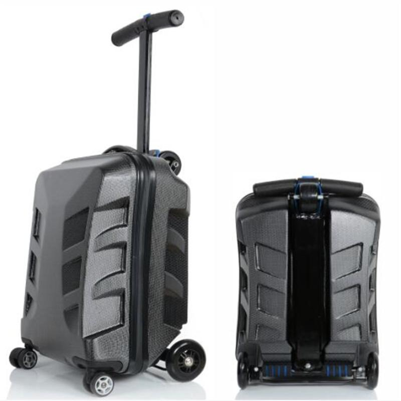 7 Clever Ideas For A Secure Remote Cabin: 2018 High Quality 21 Inches Kick Scooter Suitcase Trolley