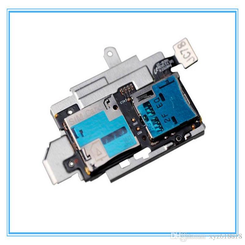DHL Livraison Gratuite / Nouveau Original Titulaire De Carte Sim Micro SD Mémoire Socket Plateau Flex câble Pour Samsung Galaxy S3 S III GT-i9300