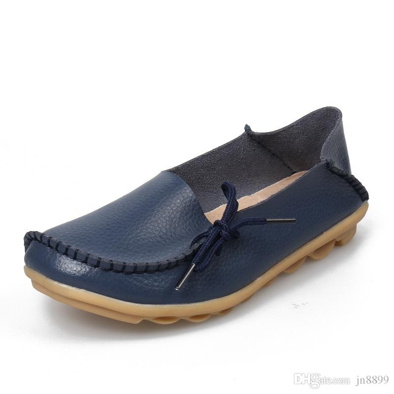 Hot Sale Moccasins Women Soft Leisure Flats Female Driving Shoes Loafers  Mother Casual Shoe Fashion Woman Genuine Leather Shoes  03 Women Casual  Shoes ... 01bd8560c330