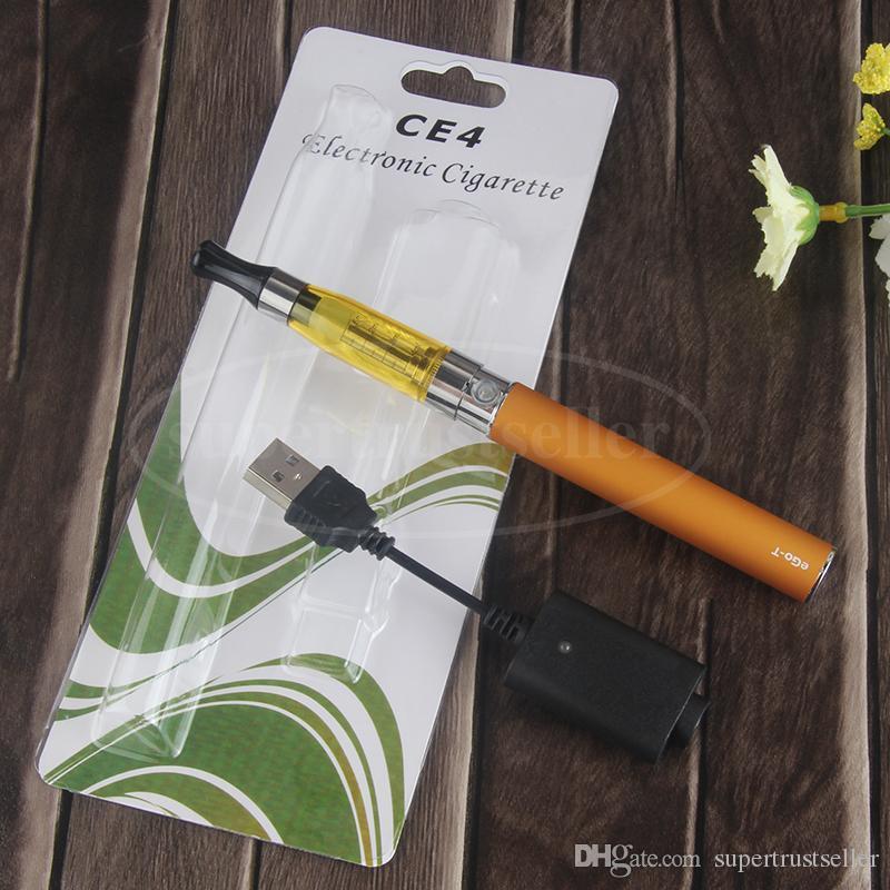 eGo CE4 Vaporizer Blister Pack Pens with Charger 650 900 1100 mah eGo T Vape Battery VS eVod CE5 Blister Kit