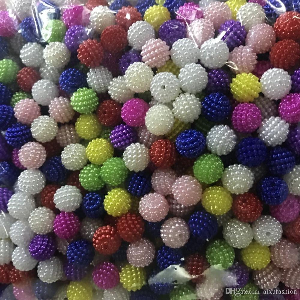 Mix Color Imitation Pearl Beads Size 10 12 mm Craft Material Beads Jewelry Chrismas Beads For DIY Jewelry Making Gift Necklace