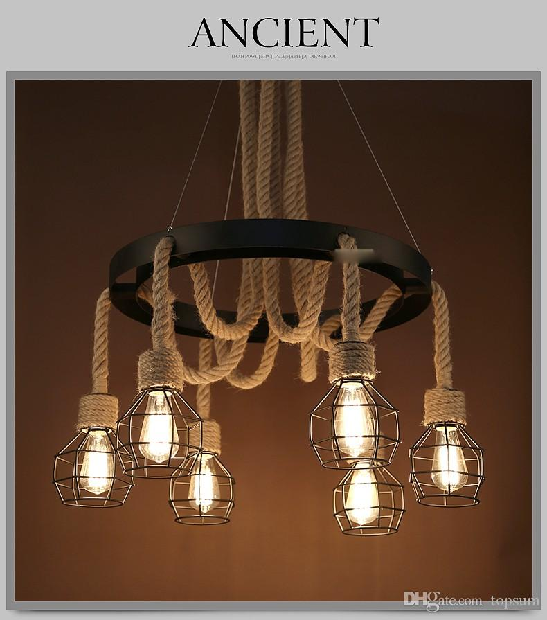 Vintage Pendant Lights Rope Edison Bulb Lamp Modern Fixtures Lighting Led  Industrial Iron Pipe Antique Light Spider Loft Lamps Multi Pendant Lighting  Brass ...