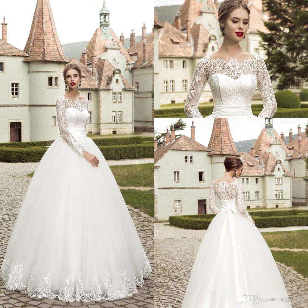 Großhandel 2017 Günstige Elegante Braut Kleider Spitze Applique A ...