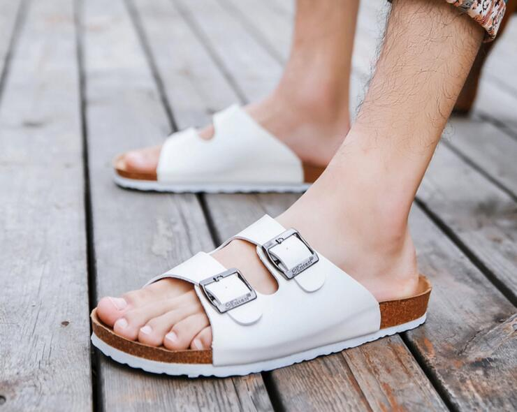 df0557867f1ac1 New Beach Cork Flip Flops Slipper 2017 Men Women Casual Summer Mixed Color  Outdoors Valentine Sandals Flat Shoe Plus Size Hot Sale Wedding Sandals  Walking ...
