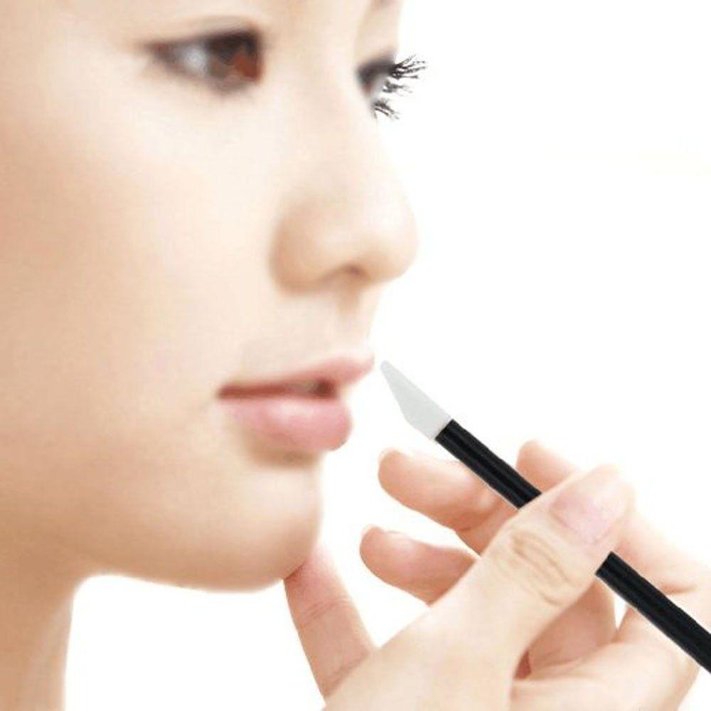 Halu Disposable Beauty MakeUp Lip Brush Lipstick Gloss Wands Applicator Make Up Brushes Tool Black