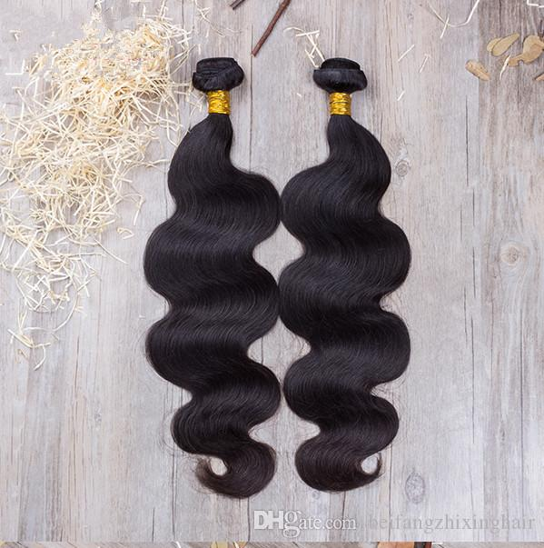 Großhandel - 8a Klasse 10-28inch Remy Malaysian unverarbeitete Haarkörperwelle Haar-Schussfaden / natürliche Farbe reine menschliche Haarverlängerungen