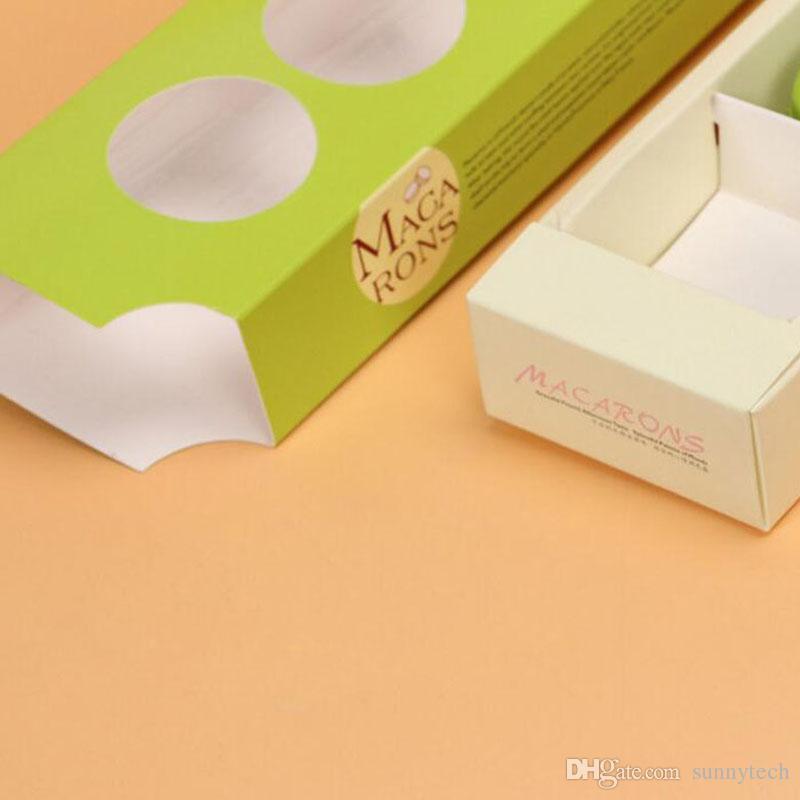 Europa-Art Süßigkeit COlor Fenster Macaron boxt Imbiß-Weihnachtskuchen-Paket-Kästen Macarons freies Verschiffen ZA4209