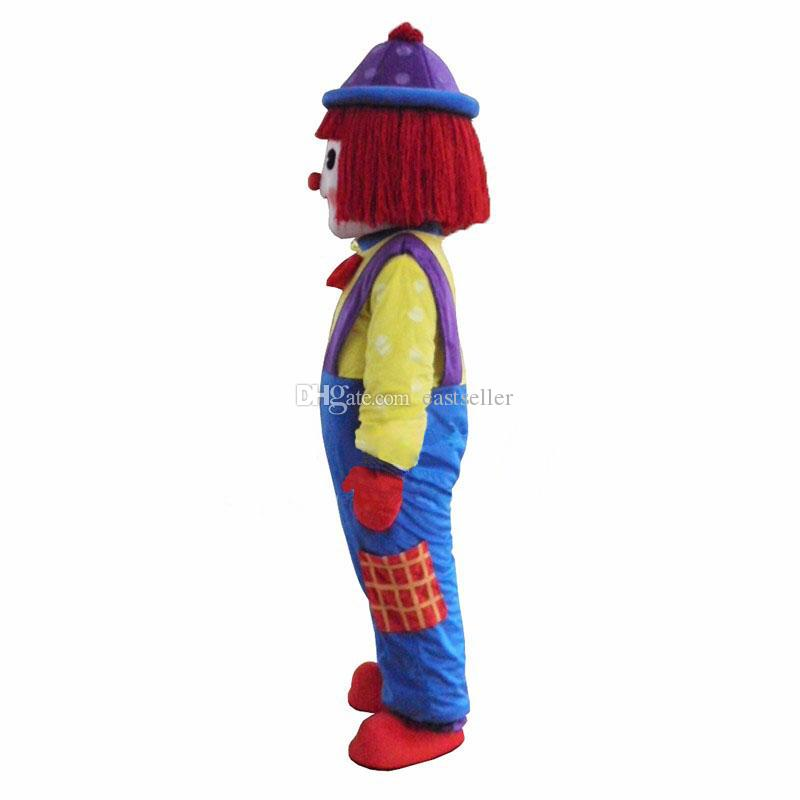 Hot Clown Comic Mascot Costume Halloween Party DressAdult Size