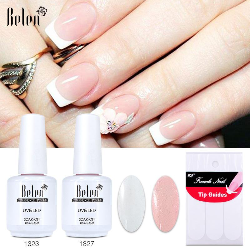 Wholesale Belen Uv Gel Nail Polish Set Pink White Color Coat Free ...