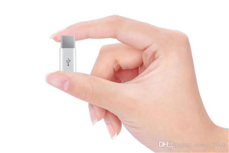Mini Micro USB hembra a Tipo Tipo-C Adaptador de cable c macho de carga del convertidor de sincronización de datos para Samsung