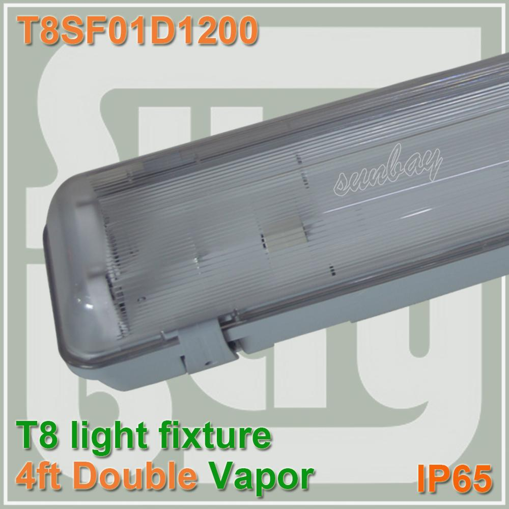 T8 Double Light Fixture: 2019 T8 4ft Light Fixture Double Row 4ft Waterproof With
