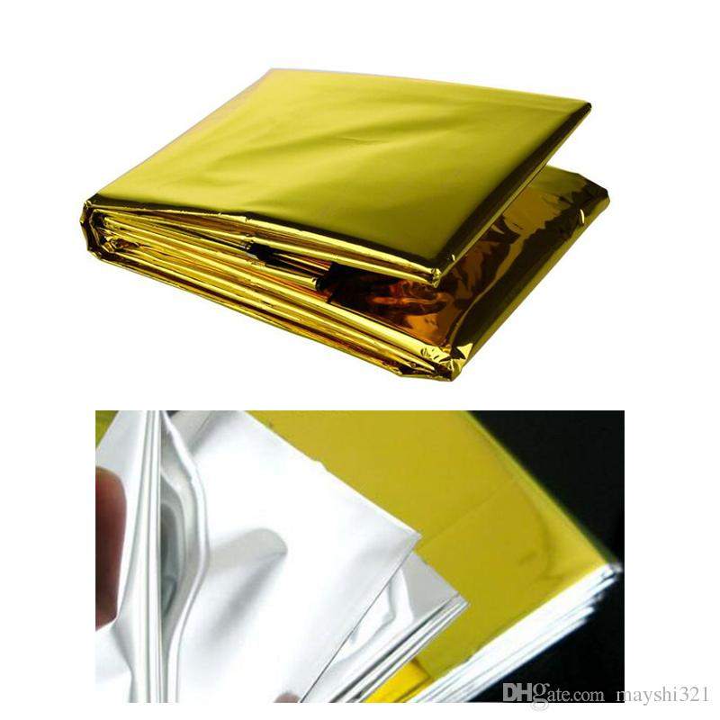 Camping Equipment Thermal Insulation Life-Saving Tool Survival Blanket Gold Reflective Aluminum Waterproof First Aid Emergency Blanket Cur