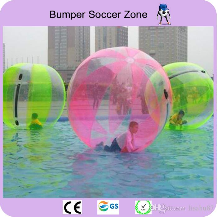 2018 New 2m Inflatable Water Walking Ball 0.8mm PVC Inflatable Walking Ball Water Balloon Zorb Ball Inflatable Human Hamster Plastic