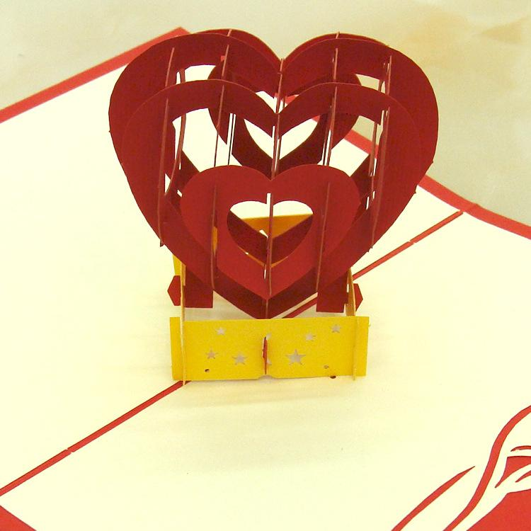 Laser Cut Wedding Invitations C Cubic Heart Valentine\'S Day Greeting ...