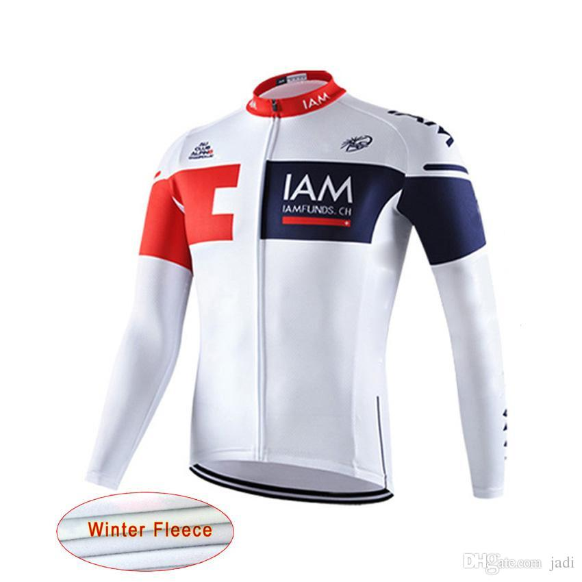 IAM Thermal Fleece Jersey 2017 Team Cycling Jerseys Bike Bicycle Long  Sleeves MTB Cycling Jersey Clothing D1031 IAM Cycling Bike Online with   34.74 Piece on ... 4716e7c71