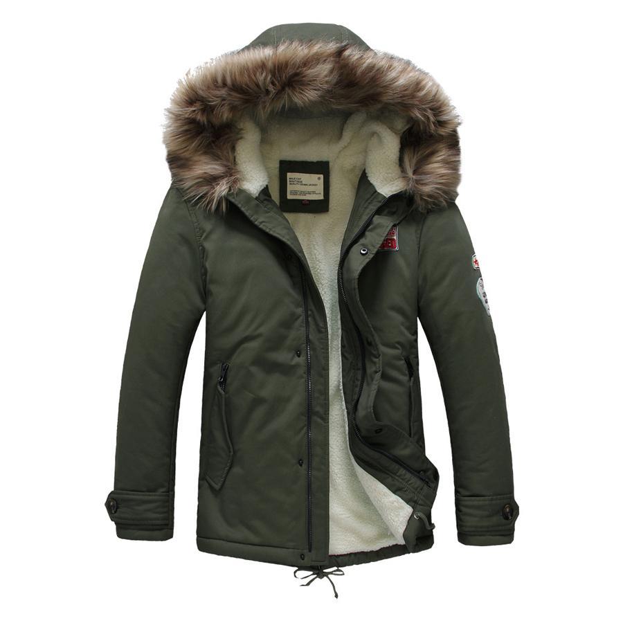 b7a62c2dbea 2019 Wholesale 2016 New Brand Men S Hood Cotton Padded Coat Casual Fur  Collar Lamb Wool Lining Parka Winter Jacket Men Fashion Outerwear From Bairi