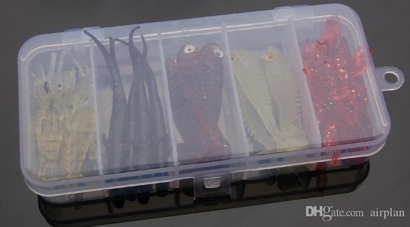 of Soft Lure Shad Bass Rubber Bionic Fly Fishing Lure Artificial Bait Wobbler Fish Smell Worm Pesca Fishing Tackle Box