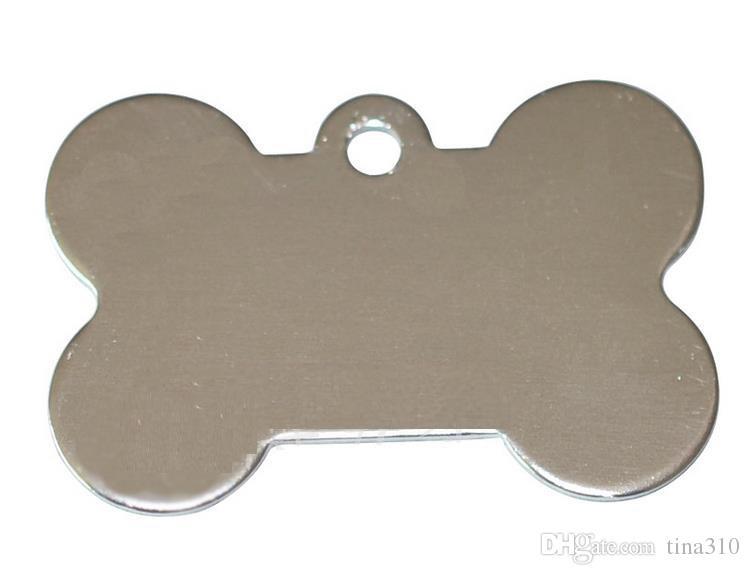 / colori misti sacco Dog Tag doppi lati a forma di osso Personalized Dog ID identificativi personalizzati Cat Pet ID Tag Nome Numero di telefono della carta di identificazione I086
