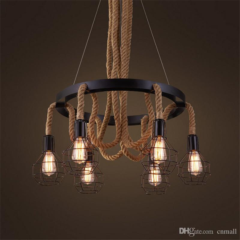 Luxury retro rope industrial pendant lights edison vintage luxury retro rope industrial pendant lights edison vintage restaurant living bar light american style nordic fixtures lighting modern pendant lamp mozeypictures Image collections