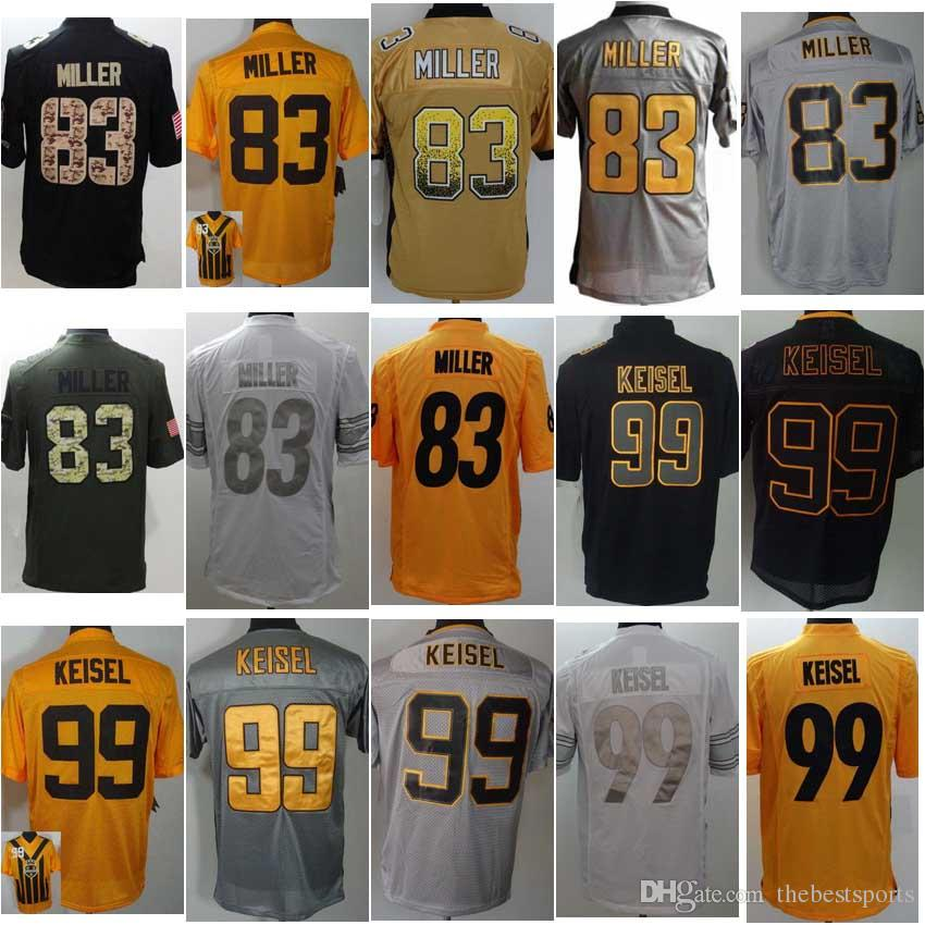 38fe93fc7 ... 2017 Mens 83 Heath Miller 99 Brett Keisel Limited Jersey Salute To  Service Stitched Jersey Football ...