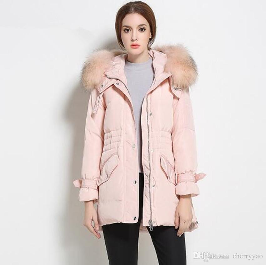 2018 Women Down Coat Jacket White Duck Down Coat Woman Casual Down ...