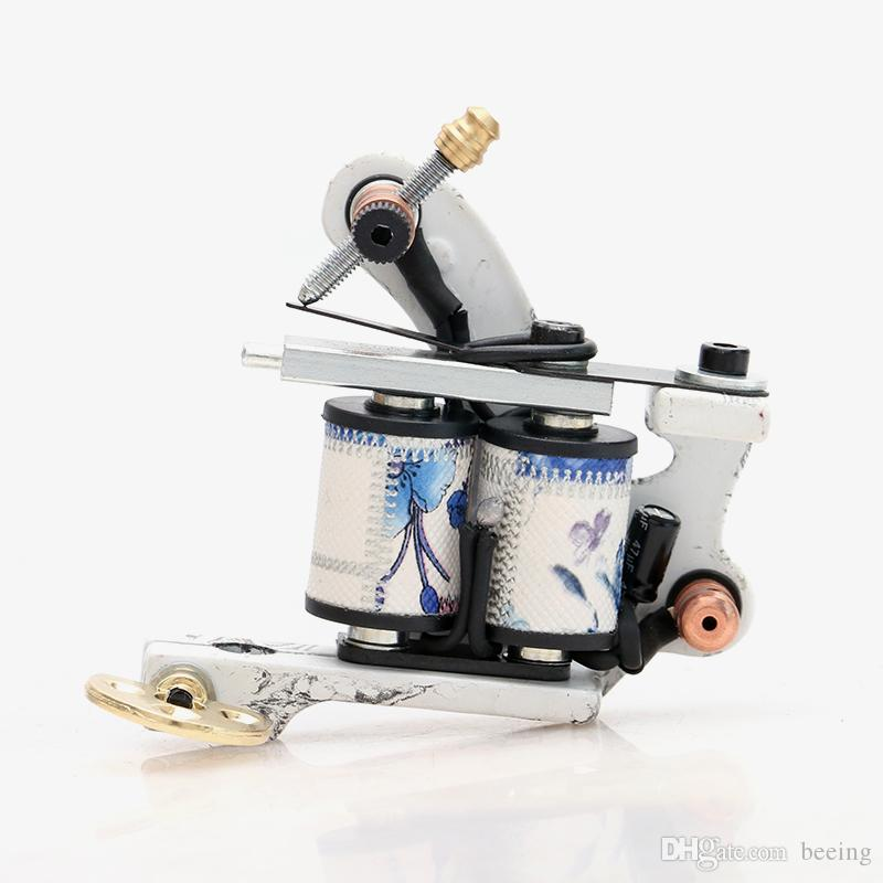 Top Pro Handmade Copper Tattoo With Dollar Painting Machine Gun 10 Wrap Coils Set Shader for Tattoo Supply TM8321