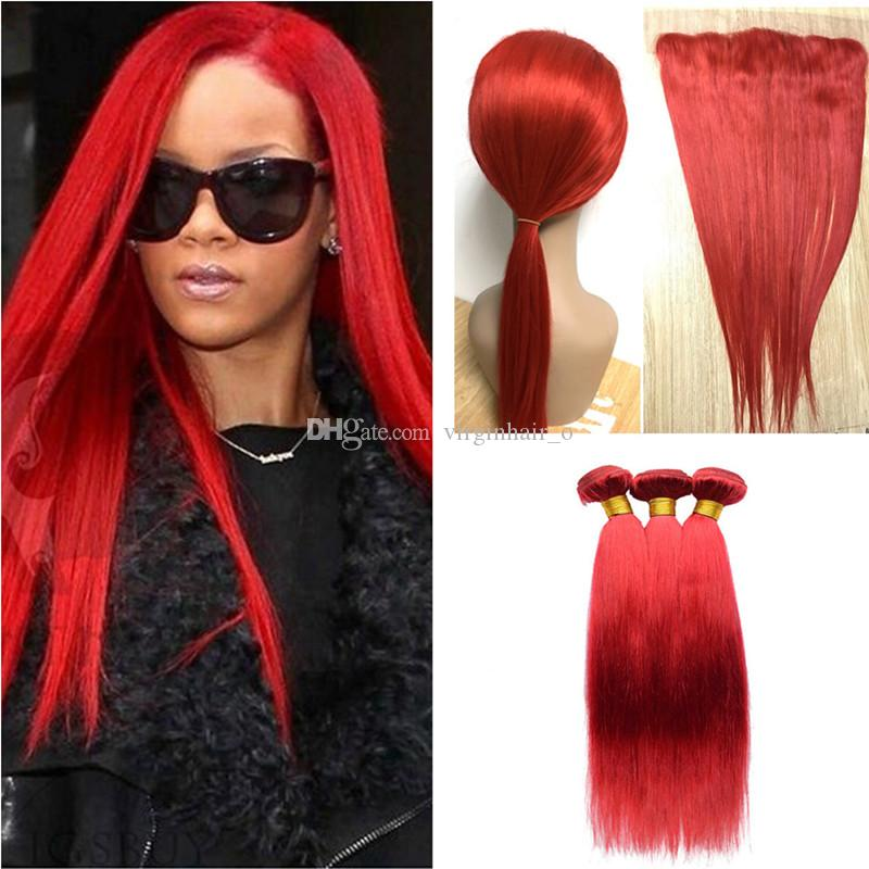 Cheap 9a ear to ear lace frontal closure with bundles rihanna red cheap 9a ear to ear lace frontal closure with bundles rihanna red malaysian virgin human hair weave with silky straight 13x4 full lace frontals wavy weave pmusecretfo Choice Image