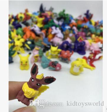 3 cm 48 adet / takım oyuncaklar koleksiyonu Mini sevimli pvc pikachu film rakamlar oyuncaklar için çocuk doğum günü noel hediyesi ...