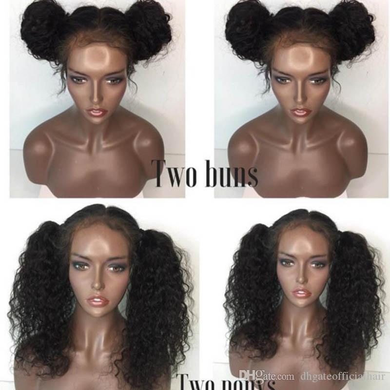 Brazilian Unprocessed Virgin Hair Full Lace Wig deep Curly Front Lace Wigs Human Hair 100 Human Hair Wigs For African American
