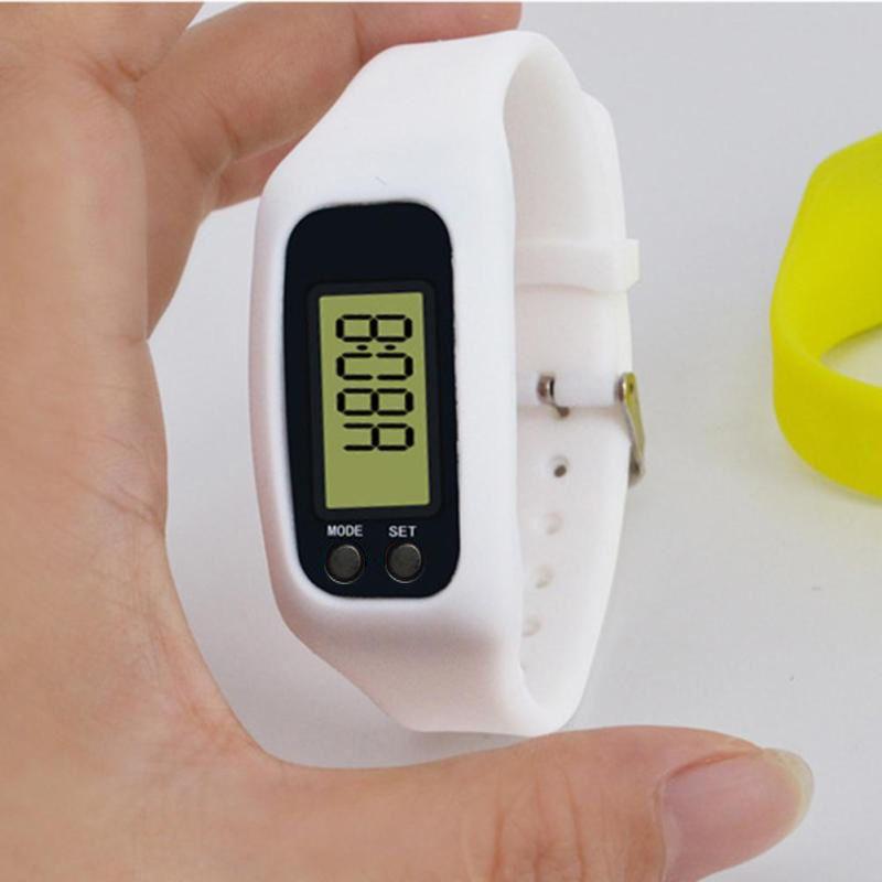 Цифровой светодиодный шагомер Run Шаг Пешком Счетчик калорий Часы Модный дизайн Браслет Красочные Силиконовые Шагомер