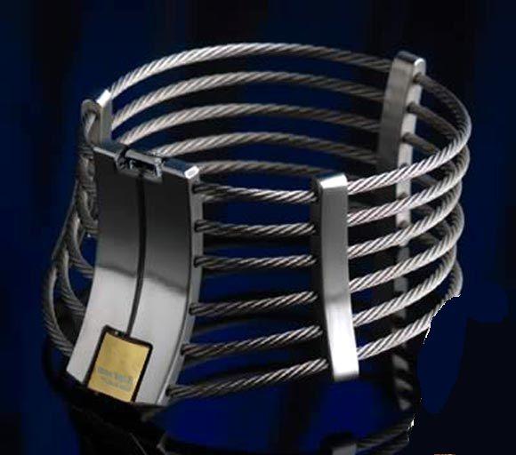 Fio De Aço Inoxidável de luxo Pescoço Neck Ring Metal Restraint Postura Collar Bondage Bloqueio Adulto BDSM Jogos de Sexo Brinquedo Para O Sexo Masculino Feminino 603