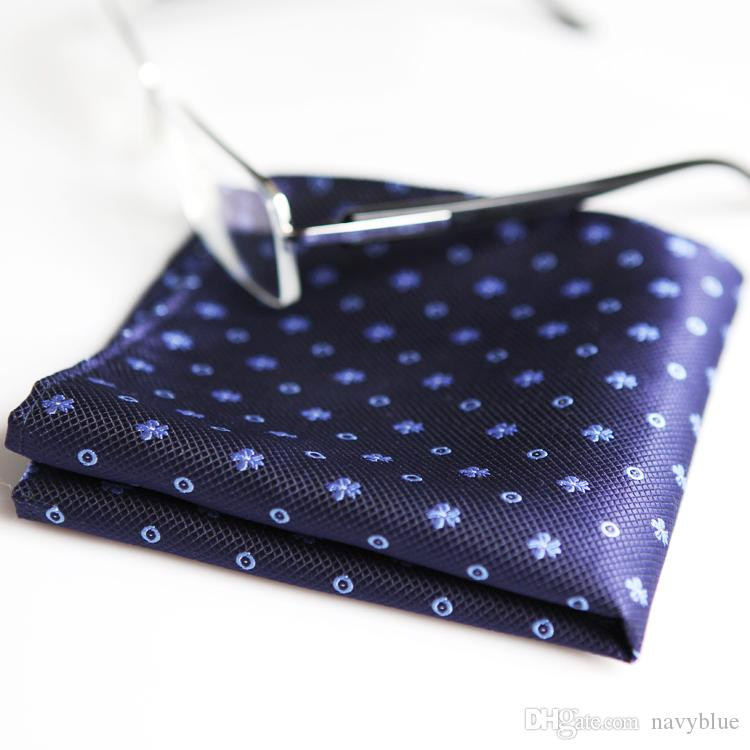 العصرية النقاط الأرجواني الأحمر بورجوندي الأزرق الداكن رجل مناديل 100٪ الحرير الجاكار المنسوجة المنديل بالجملة شحن مجاني جديد