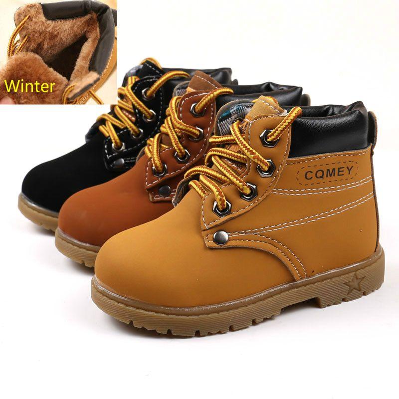 2c63d0292 Compre 2018 Comfy Kids Invierno Moda Niño Botas De Nieve De Cuero Para  Niñas Niños Warm Martin Boots Zapatos Casual Plush Niño Bebé Niño Zapatos A   19.28 ...