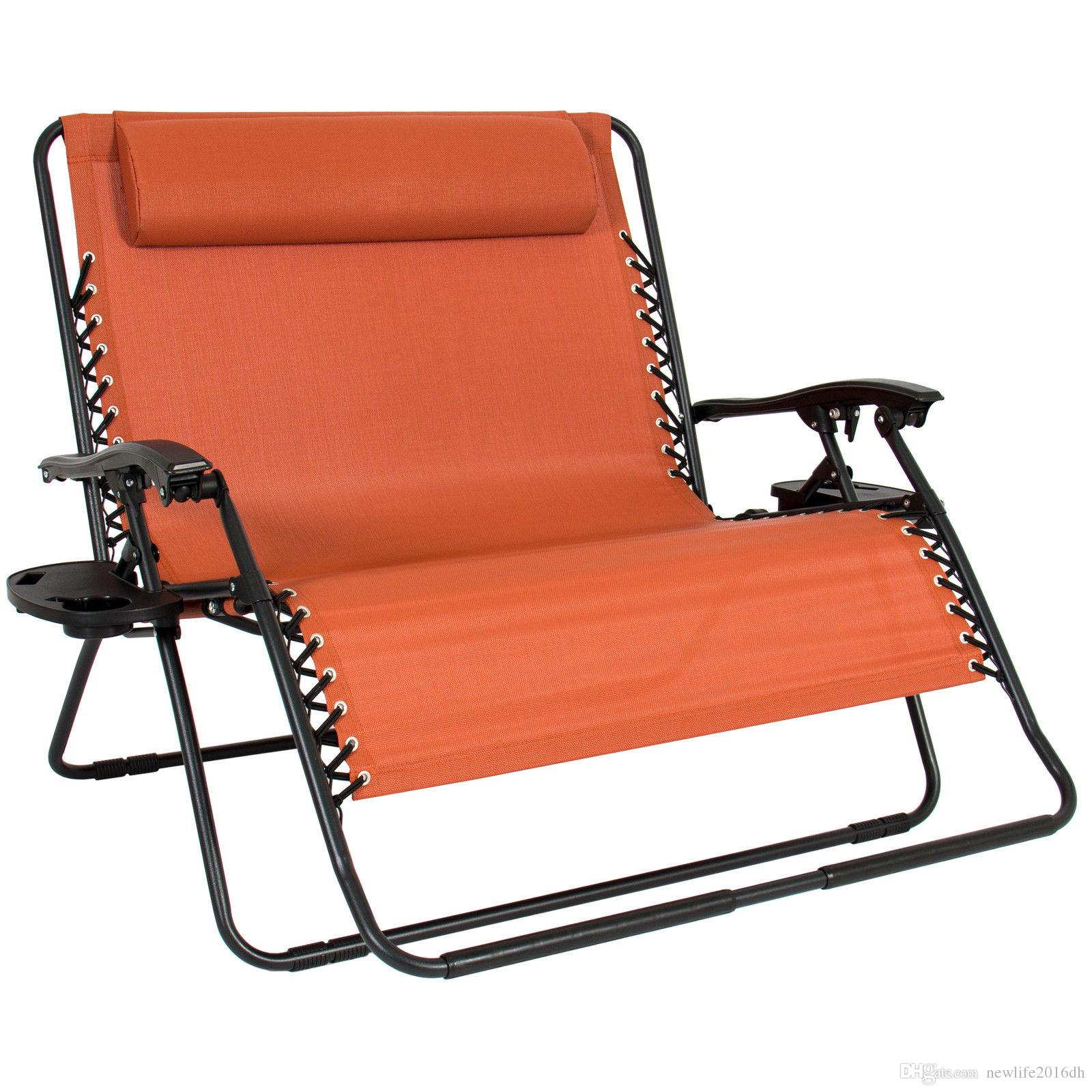 2018 Folding 2 Person Oversized Zero Gravity Lounge Chair Accessory