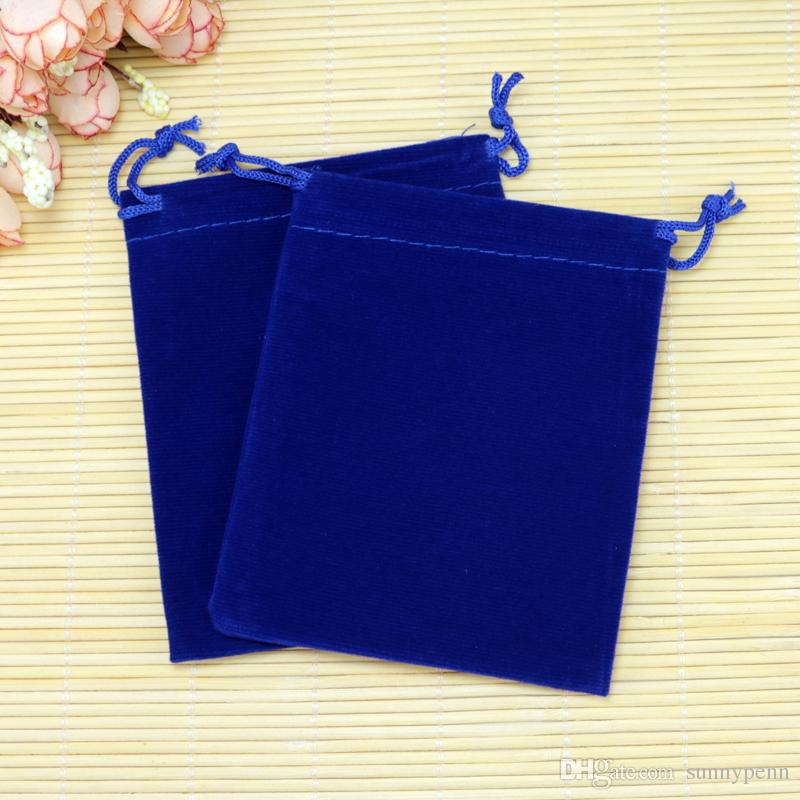 Cheap Jewelry Packaging Storage Bags Can Customzie Logo 9*12cm Royal Blue Velvet Bags Cosmetic Candy Storage Gift Pouches