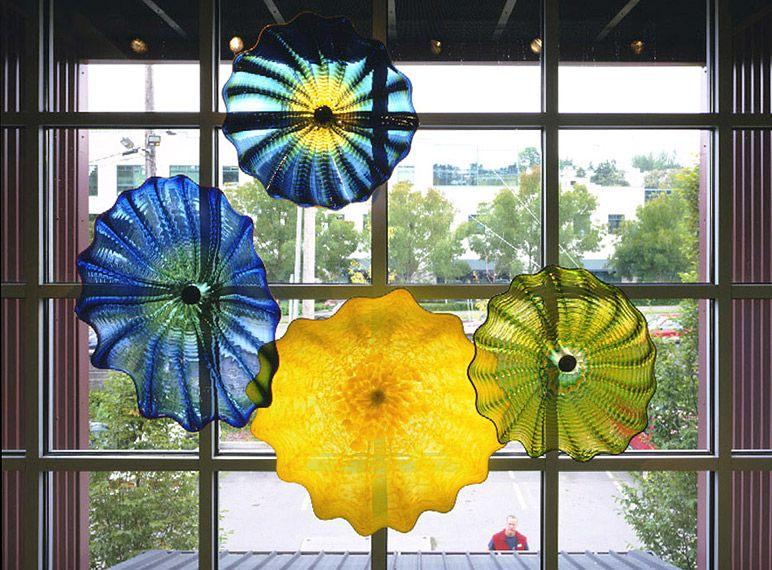 OEM 입 블로운 붕규산 램프 공예 공예 고품질 무라노 유리 플레이트 도매