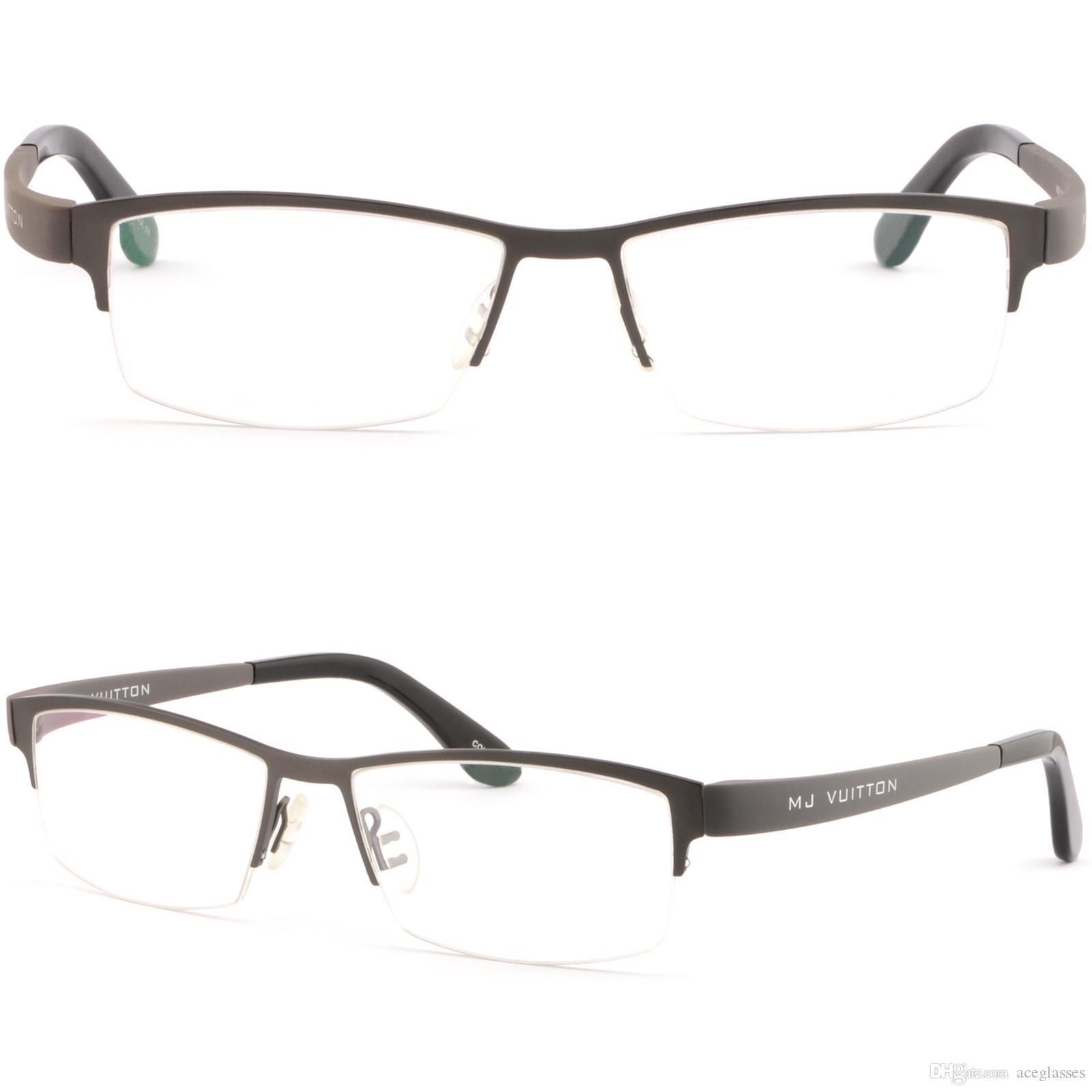 Large Mens Light Titanium Frame Wrap Around Prescription Glasses ...