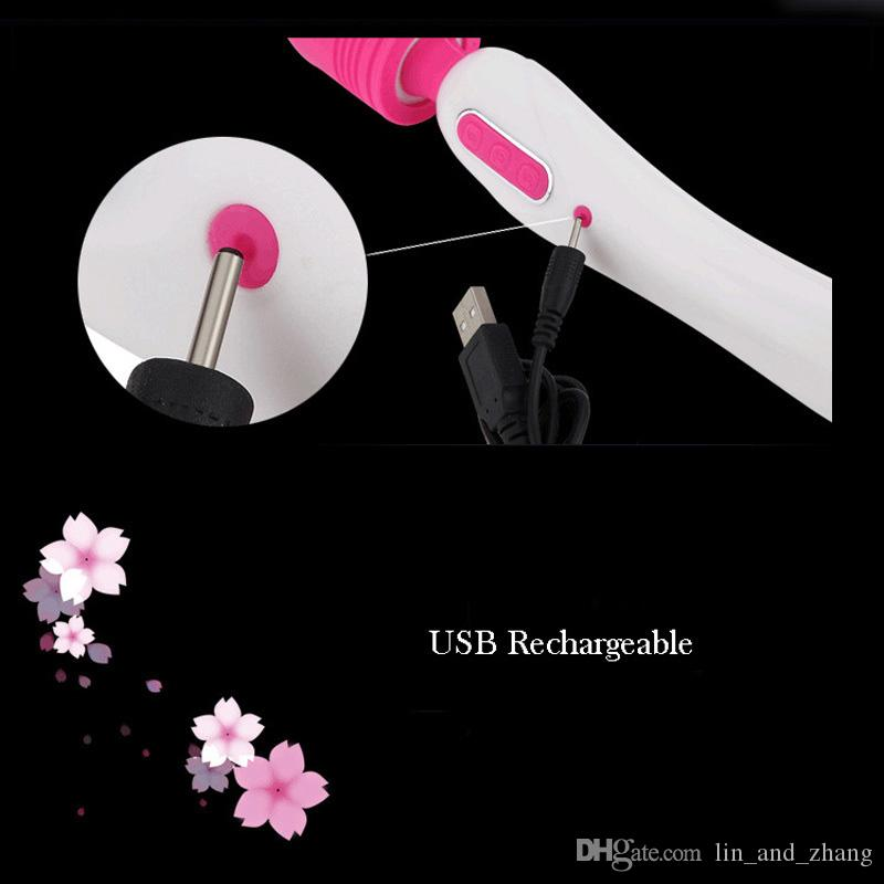 Rechargeable Magic Wand Powerful Body Massager Clitoral Vibrator AV Vibrators Adult Sex Toys for Couples Sex Products