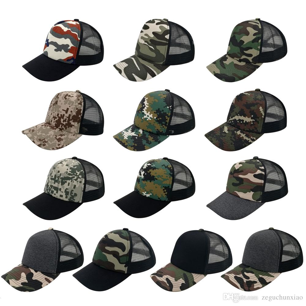 5 Panels Trucker Caps Hats Military Camouflage Camping Hat 100% Cotton  Snapbacks Hats Fitted Styles For Men Women Accept Logo Made Ball Caps  Fitted Caps ... 589523e4088