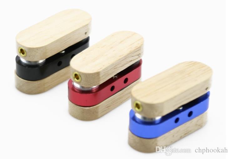 Tubo piccolo in legno rotante Selezione multicolore di tubo metallico pieghevole portatile creativo