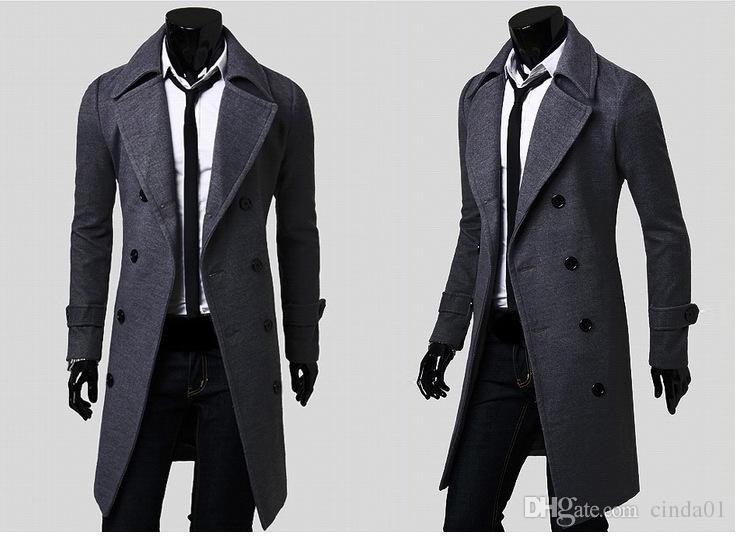 الرجال مصمم الملابس خندق معاطف شحن مجاني الشتاء أزياء واحدة اعتلى سترات الكشمير سترة معاطف الرجال معطف casacos