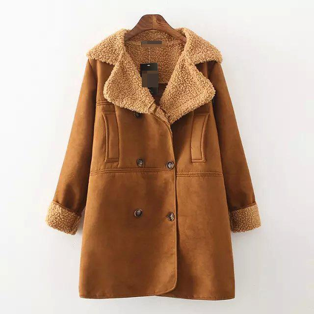 1980'S Sheepskin Shearling Coat Buckskin Jacket Brown Suede ...