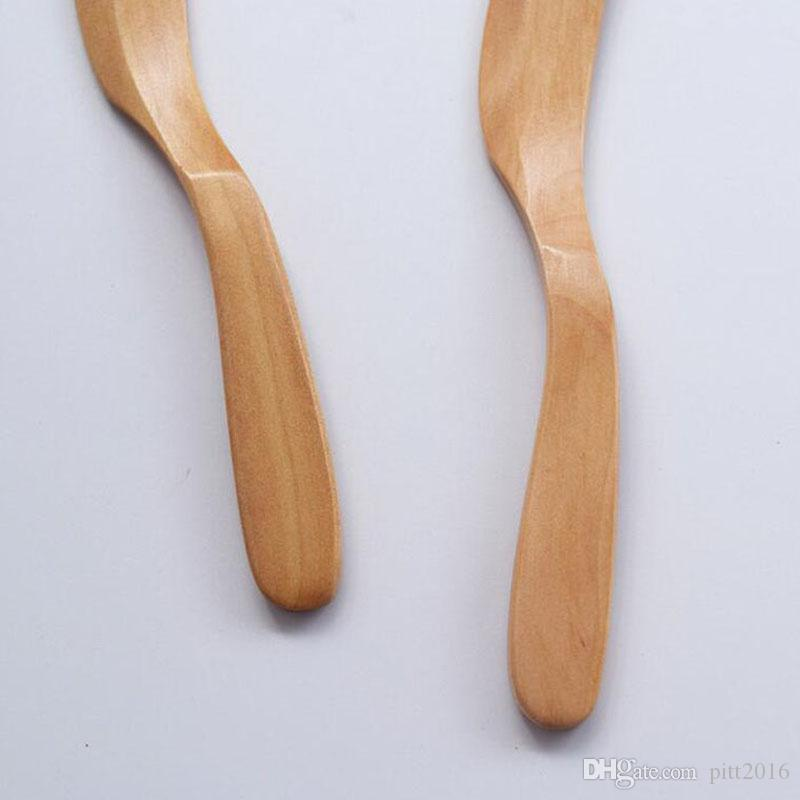 Knife Style Schima Superba Wooden Japan Butter Spreader Marmalade Dinner Cheese Knives Pastry Spatulas Tabeware ZA5486