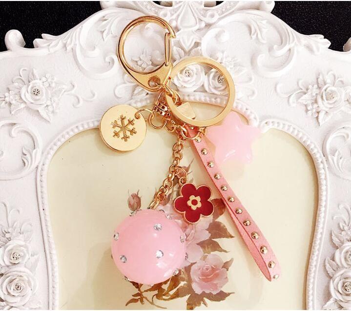 Portachiavi coppia color caramella Portachiavi stella a cinque punte Ciondoli squisiti ciondolo decorazioni di colore diverso