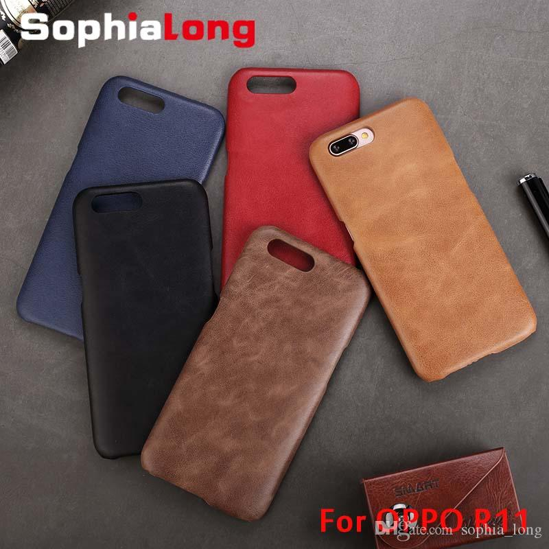huge selection of ccc6f 68996 Back Cases for OPPO R11 Plus Case Real Cow Leather Cover for OPPO R11 Cover  Corium Shell Phone Capa Fundas