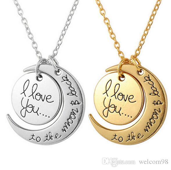 20 шт. / IOT Я люблю тебя на Луну и обратно ожерелье Ожерелье зажечь ожерелья для ювелирных изделий NE30