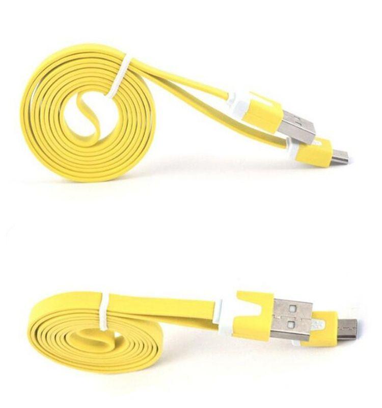 2M 6FT 1M 3FT Noodle Flat Micro USB Cable Cables Cables de alimentación USB Cargador V8 Línea de carga para Android Samsung S6 S7 HUAWEI NUEVO